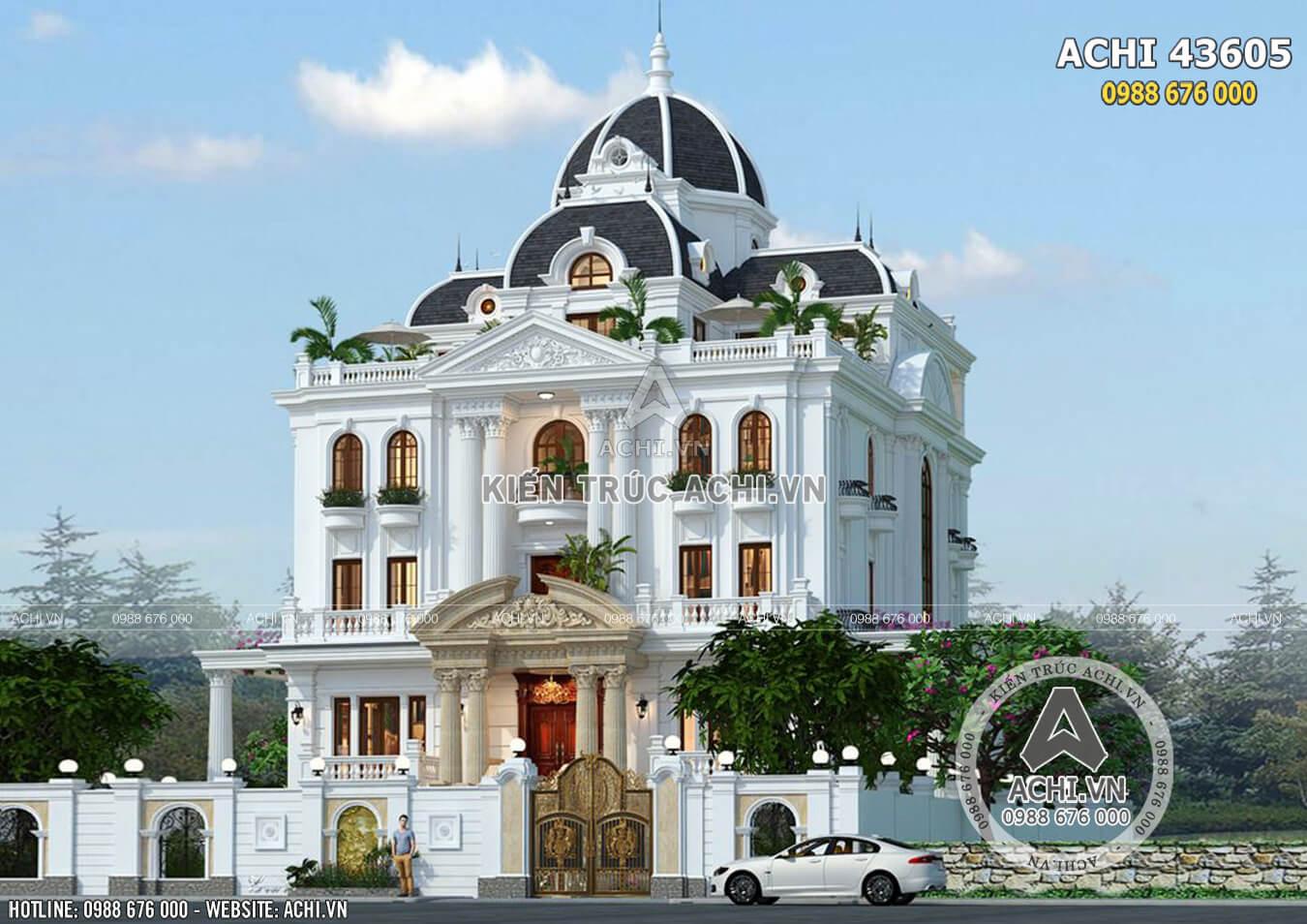 Ngôi biệt thự 3 tầng phong cách tân cổ điển sang trọng