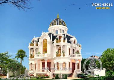 Mẫu thiết kế biệt thự tân cổ điển đẹp 3 tầng – ACHI 42011