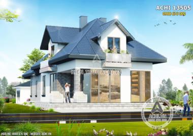 Mẫu nhà mái thái có gác lửng 1,5 tầng đẹp tại Lạng Sơn – ACHI 13505