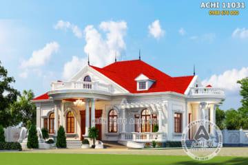 Mẫu biệt thự nhà vườn tân cổ điển đẹp ngất ngây – Mã số: ACHI 11031