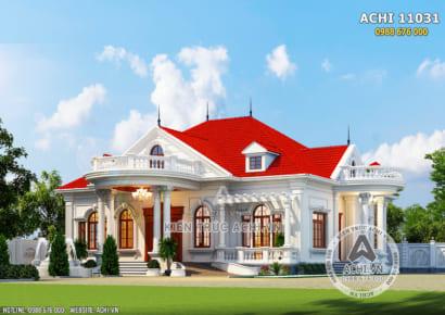 Phối cảnh 3D mặt tiền biệt thự tân cổ điển đẹp - Mã số: ACHI 11031