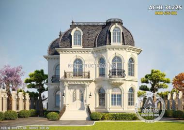 Mẫu biệt thự tân cổ điển 2.5 tầng đẹp – ACHI 31225