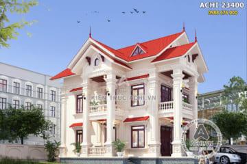 Mẫu nhà 2 tầng tân cổ điển đẹp tại Hải Dương – ACHI 23400
