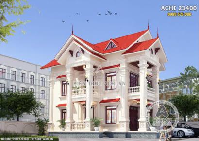 Mẫu nhà 2 tầng tân cổ điển đẹp tại Hải Dương - ACHI 23400