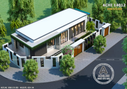 Mẫu nhà cấp 4 1 tầng trệt hiện đại đẹp - ACHI 14012