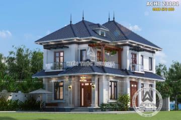 Mẫu thiết kế biệt thự 2 tầng hiện đại đẹp – ACHI 23101
