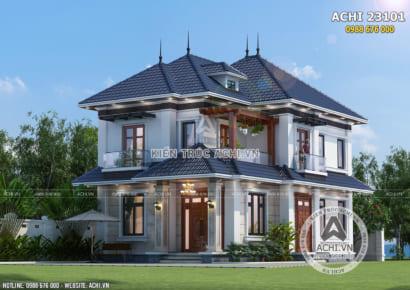 Mẫu thiết kế biệt thự 2 tầng hiện đại đẹp - ACHI 23101