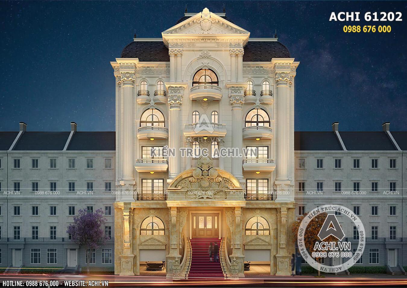Kiến trúc Pháp đặc trưng khiến không gian mặt tiền tựa cung điện hoàng gia