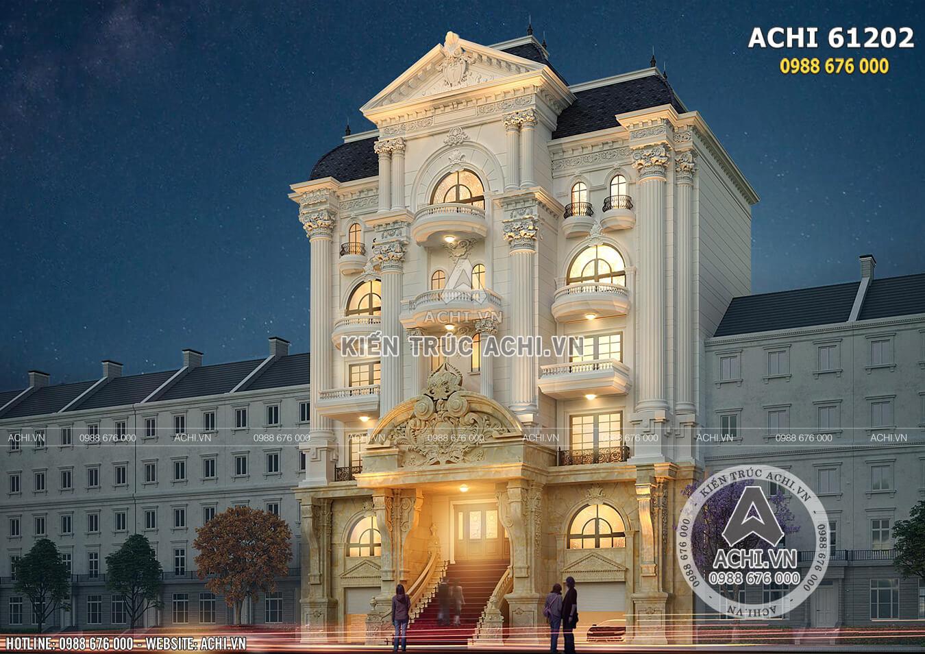 Một góc view mẫu nhà ở kết hợp kinh doanh mặt tiền 15m kiến trúc tân cổ điển