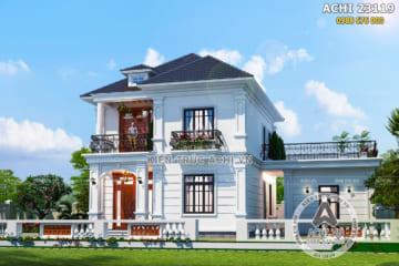 Mẫu nhà 2 tầng đẹp tân cổ điển 100m2 – Mã số: ACHI 23119
