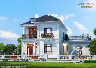 Một góc view đẹp của mẫu nhà 2 tầng đẹp tân cổ điển 100m2 - Mã số: ACHI 23119