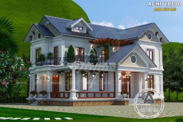 Mẫu thiết kế biệt thự 2 tầng mái Thái đẹp 150m2 – Mã số: ACHI 21300