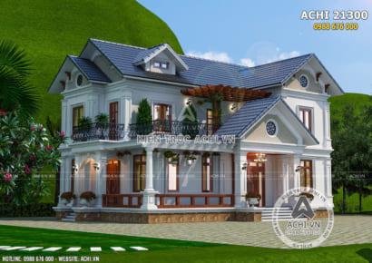 Không gian ngoại thất mẫu thiết kế biệt thự 2 tầng mái Thái đẹp 150m2 - Mã số: ACHI 21300