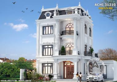 Mẫu thiết kế biệt thự 3 tầng tân cổ điển đẹp – ACHI 31210