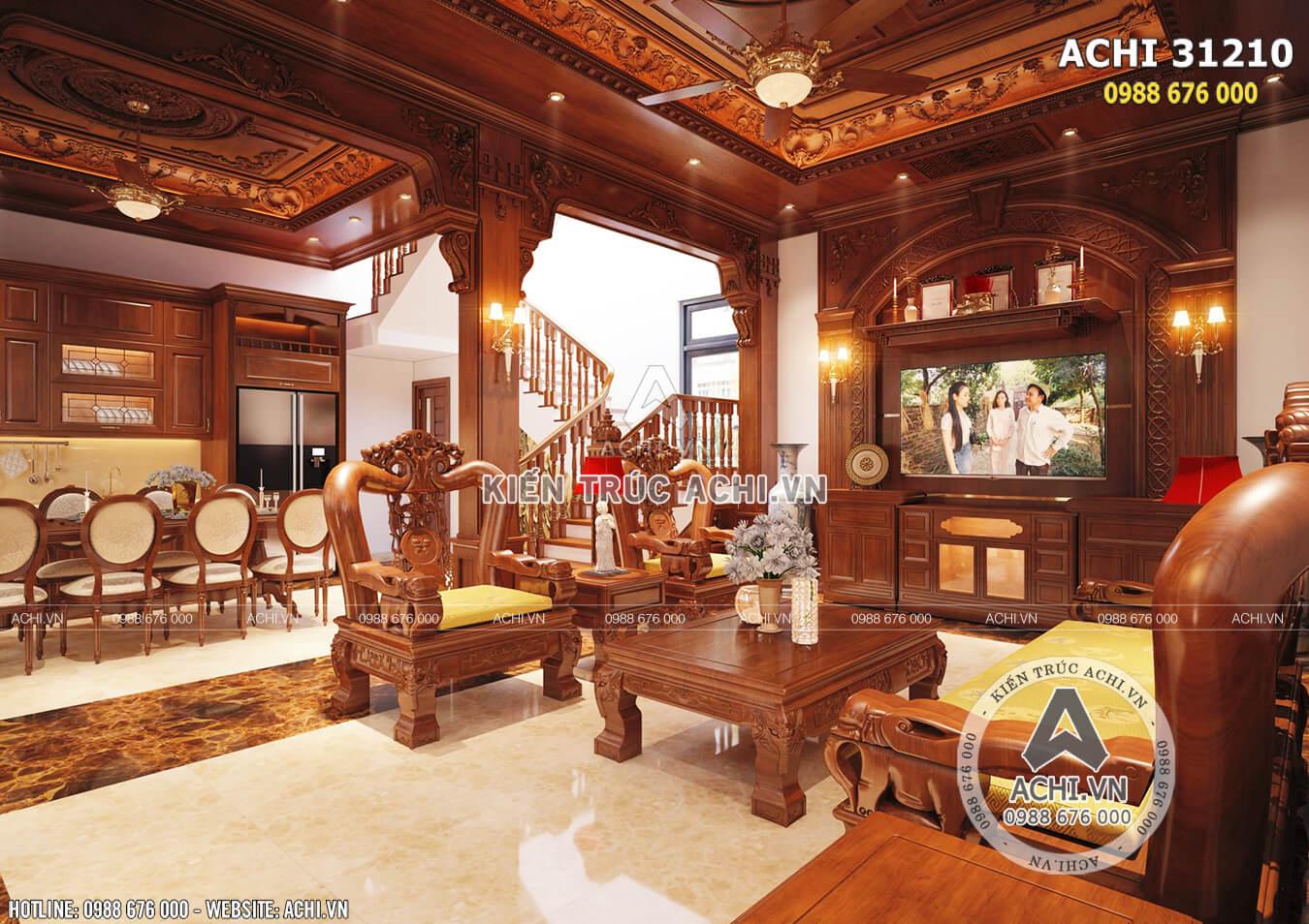 Nội thất mẫu nhà tân cổ điển 3 tầng