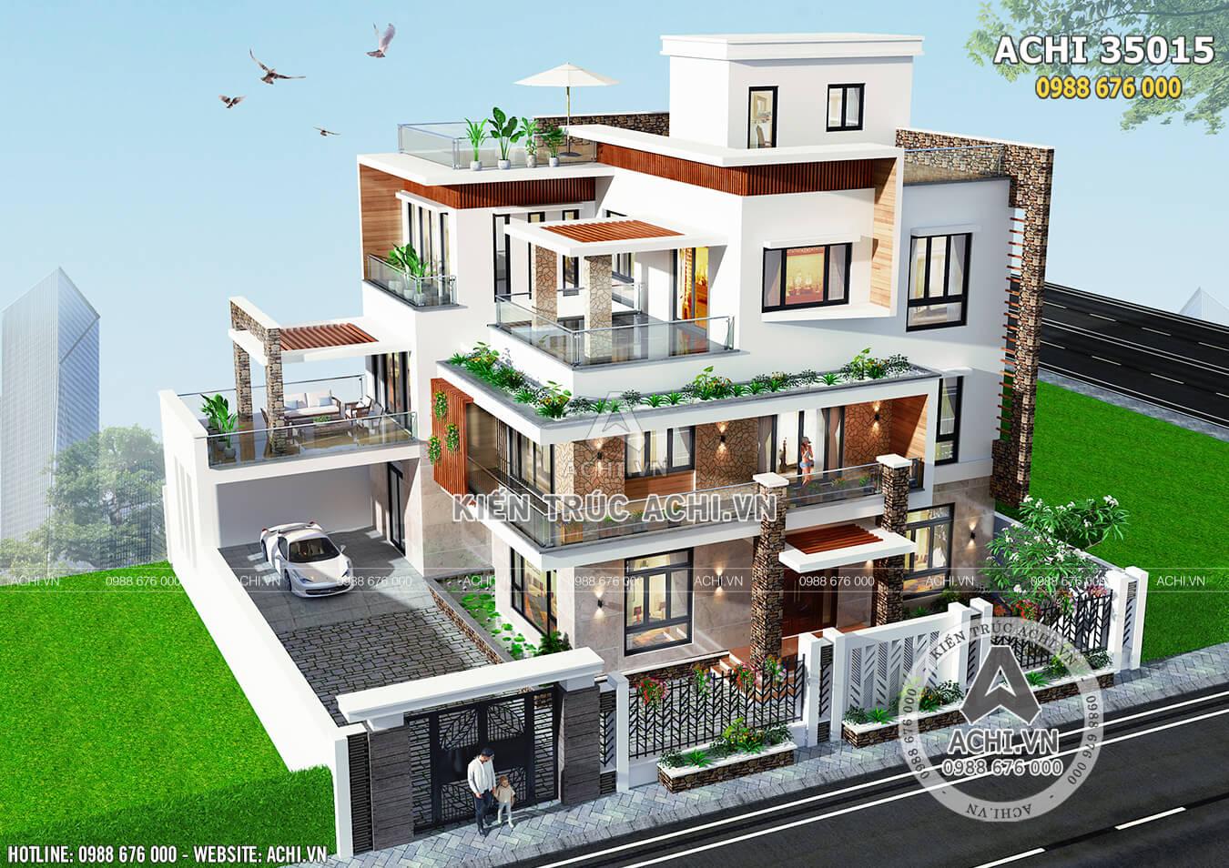 Hút mắt với những mẫu nhà 3 tầng hiện đại sang trọng
