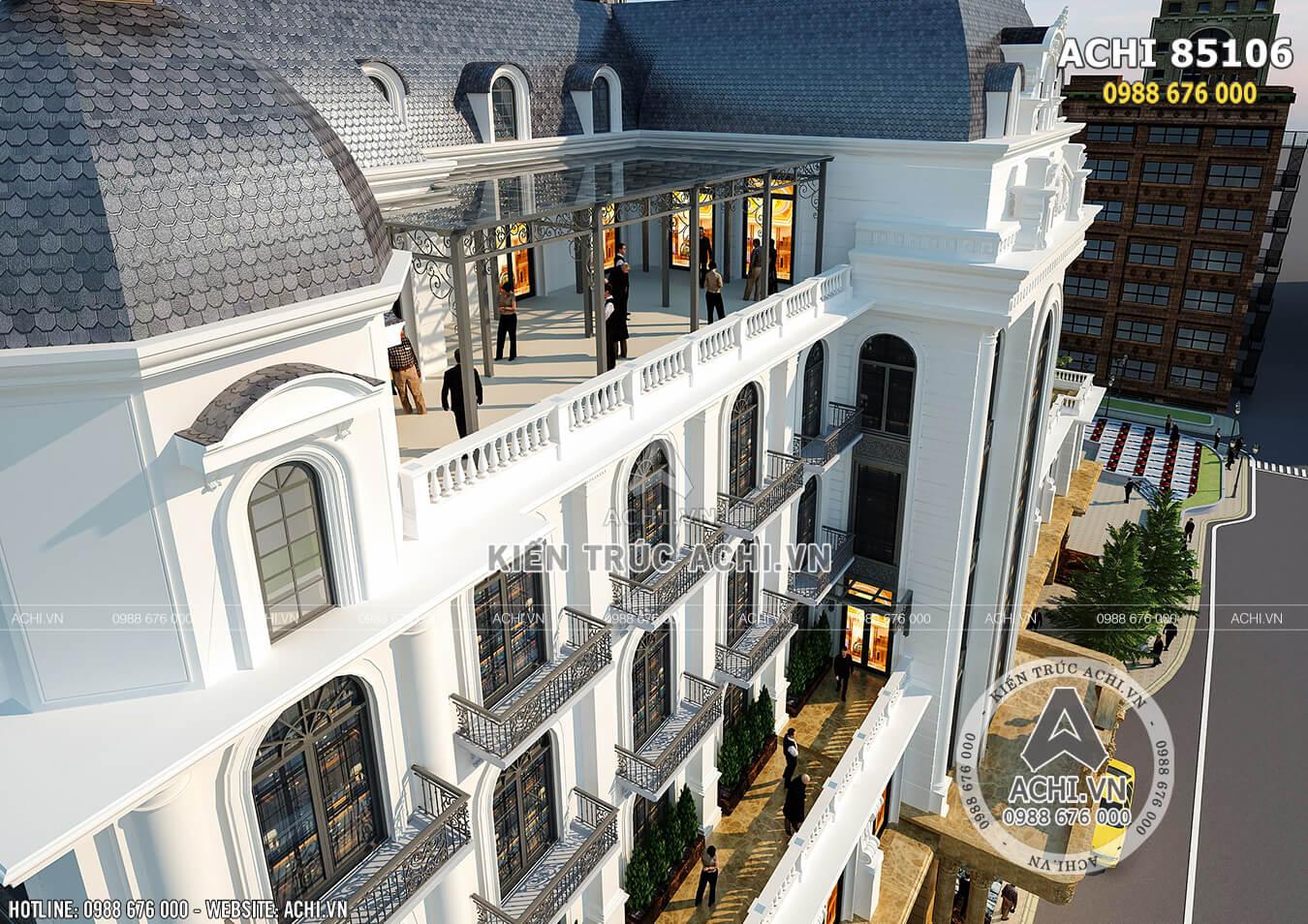Một góc view đẹp của mẫu thiết kế khách sạn đẹp tiêu chuẩn 4, 5 sao