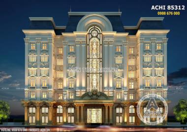 Thiết kế tổ hợp văn phòng khách sạn tân cổ điển đẹp – Mã số: ACHI 85312
