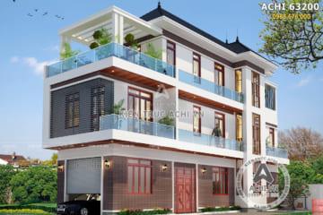 Ngây ngất với mẫu thiết kế nhà 3 tầng hiện đại mặt tiền 5m – ACHI 63200