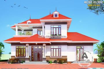 Thiết kế biệt thự 2 tầng mái thái đỏ tại Bắc Giang – ACHI 21302