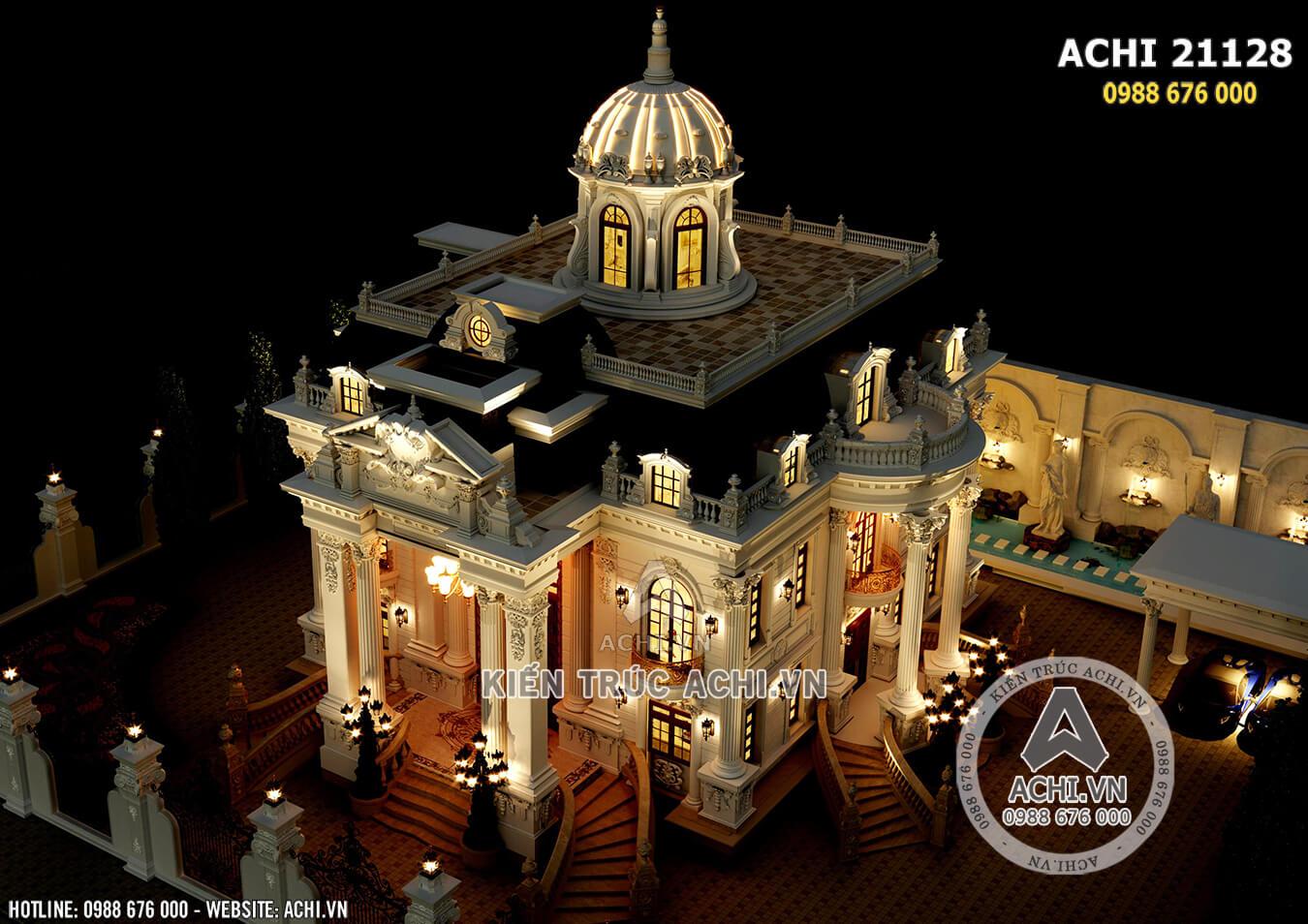 Mẫu thiết kế dinh thự 2 tầng tân cổ điển sang trọng