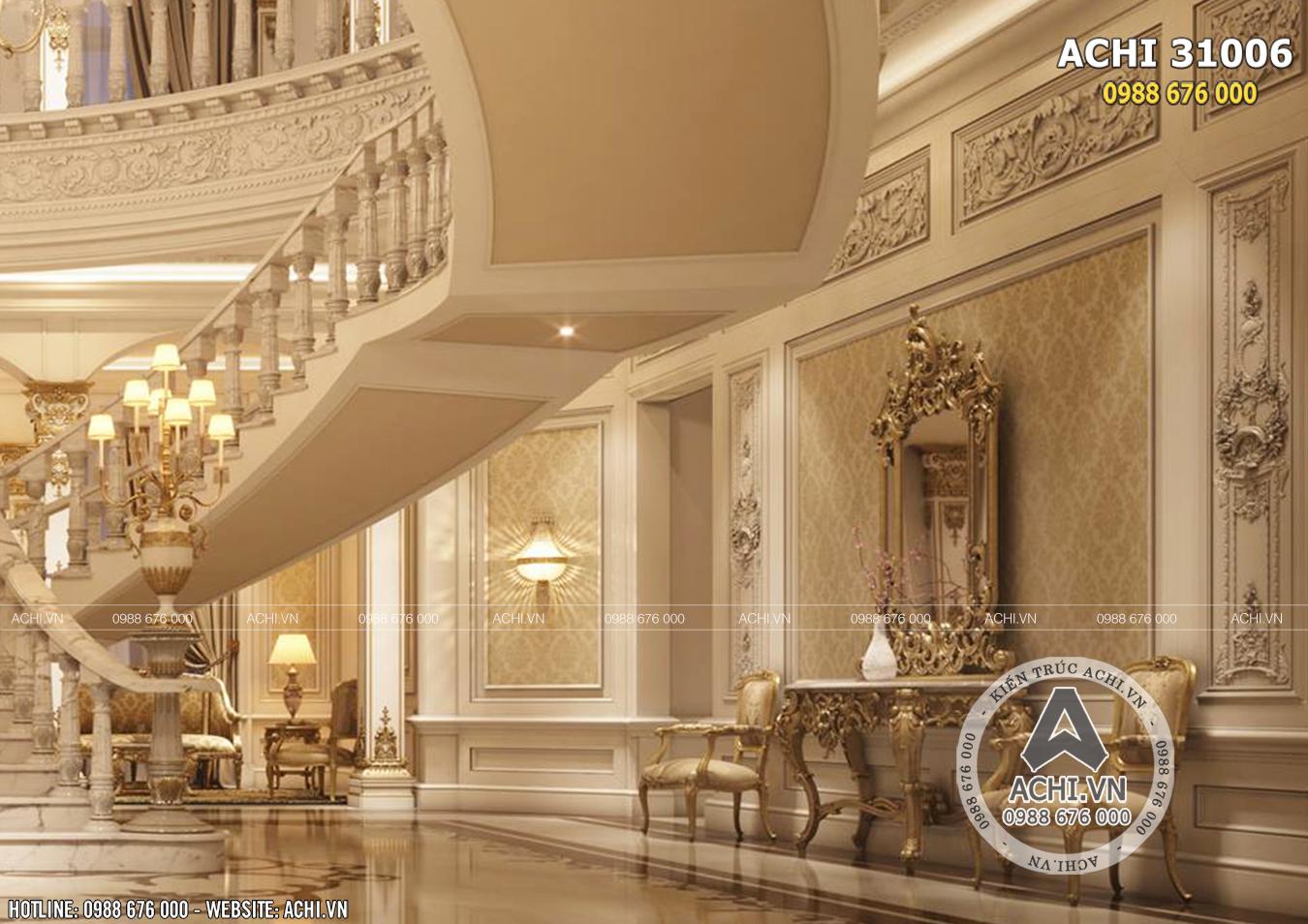 Nội thất lâu đài cuốn hút với đường nét kiến trúc tinh tế
