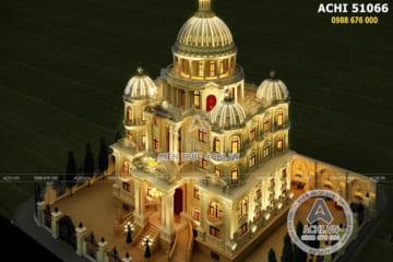 Thiết kế siêu lâu đài dinh thự đẹp 4 tầng tại Hải Dương: ACHI 51066