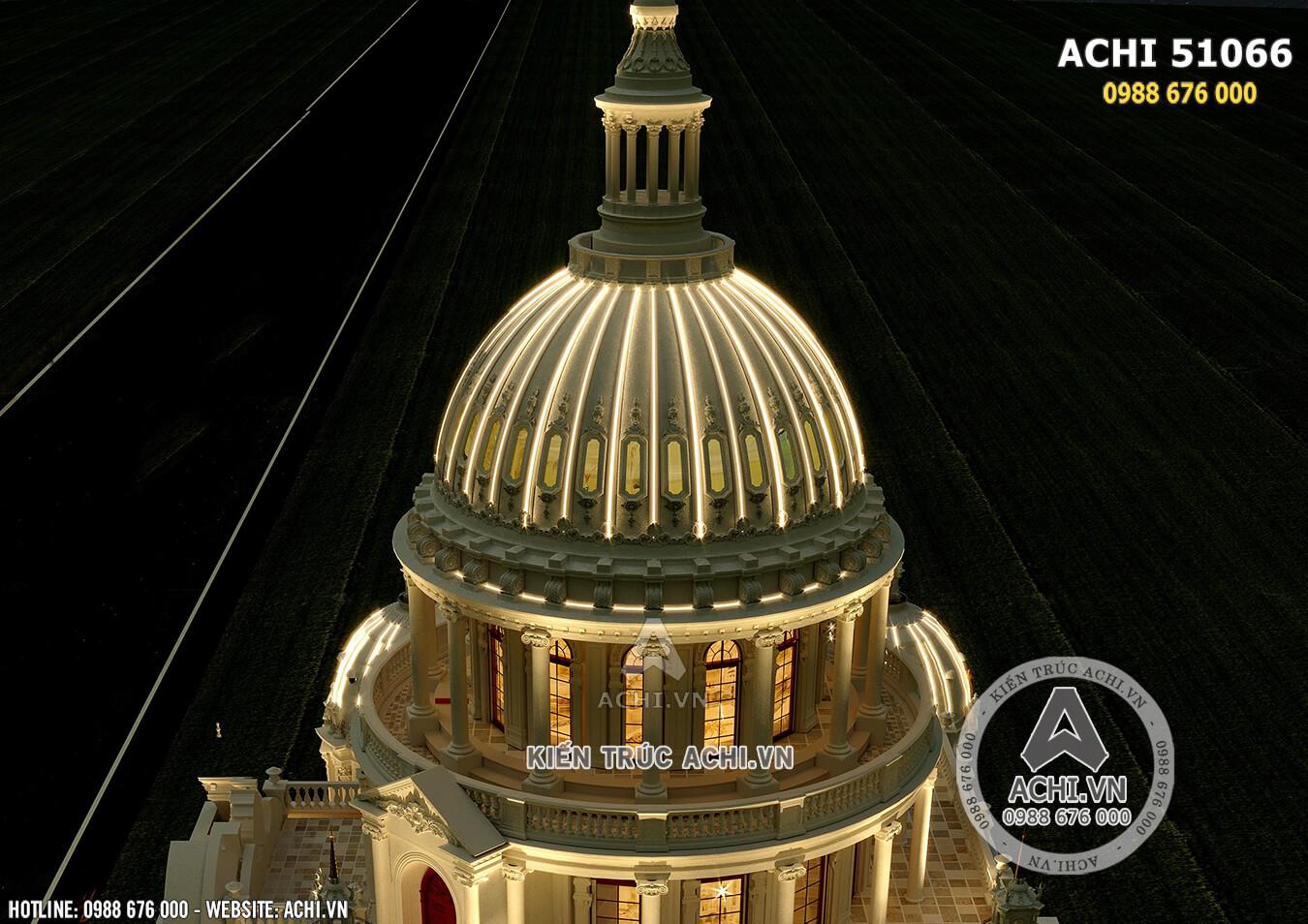 Kiến trúc mái vòm huyền thoại làm nên đặc trưng của thiết kế lâu đài dinh thự đẹp