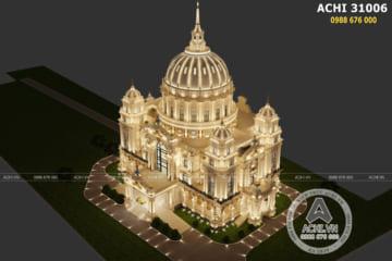 Thiết kế siêu lâu đài tân cổ điển lớn nhất Việt Nam – ACHI 31006