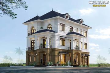 Mẫu nhà 3 tầng tân cổ điển đẹp sang trọng – ACHI 31015