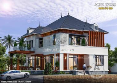 Mẫu nhà biệt thự 2 tầng hiện đại đẹp mái Thái kiến trúc mới nhất 2020 – ACHI 25225
