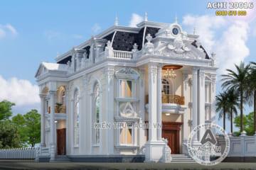 Mẫu thiết kế dinh thự 2 tầng tân cổ điển đẹp mặt tiền 12m – ACHI 20016