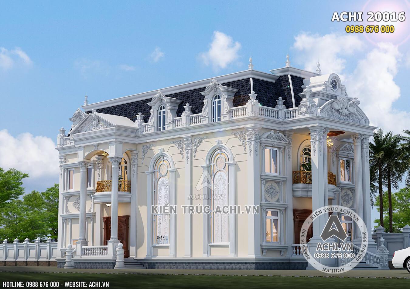 Một góc view của ngôi biệt thự tân cổ điển 2 tầng đẹp