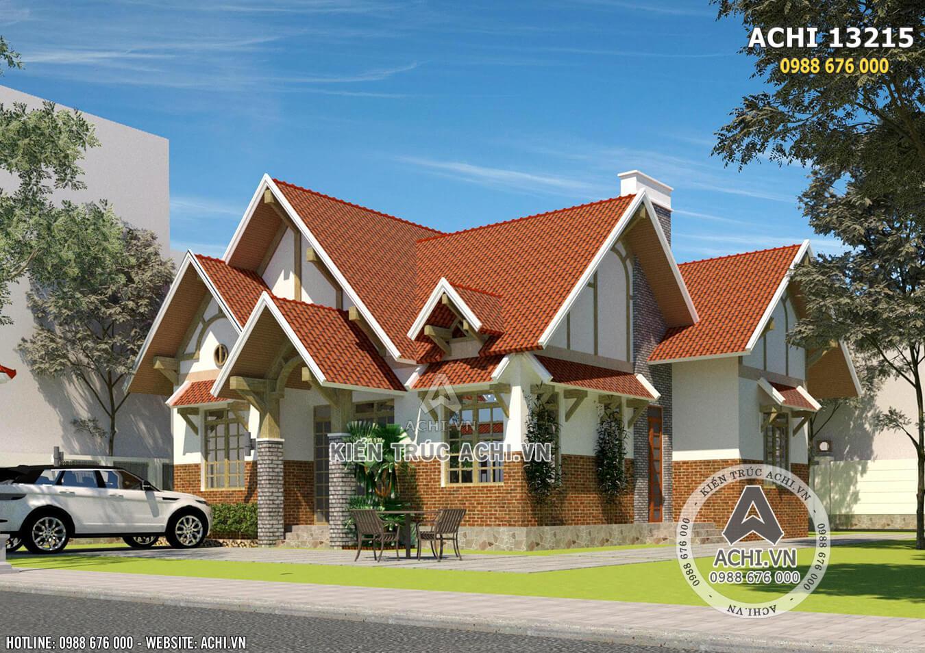 Mẫu thiết kế nhà cấp 4 đẹp 1 tầng tại Đà Lạt - ACHI 13215