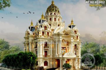 Thiết kế dinh thự lâu đài đẹp 4 tầng 300m2 – ACHI 41002
