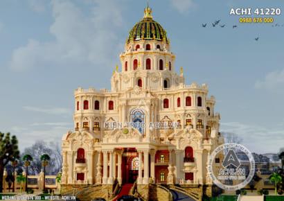 Thiết kế lâu đài dinh thự đẹp 4 tầng đẳng cấp - ACHI 41220