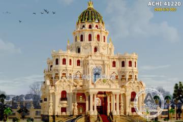 Thiết kế lâu đài dinh thự đẹp 4 tầng kiến trúc tân cổ điển đẳng cấp – ACHI 41220