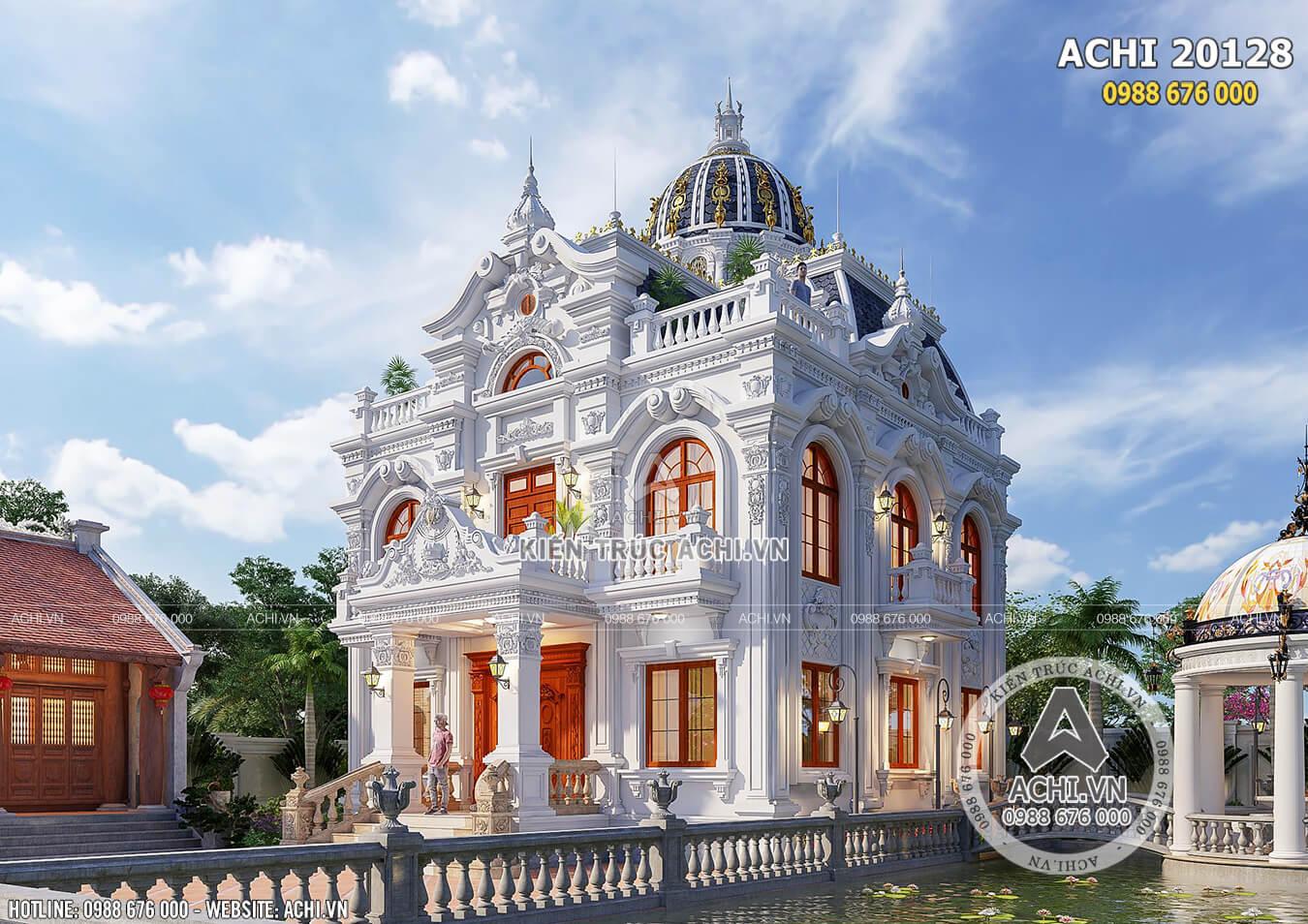 Một góc view đẹp mẫu dinh thự Pháp đẹp đến từng chi tiết