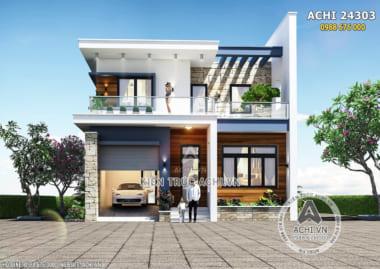 Mẫu nhà 2 tầng đơn giản hiện đại 600 triệu đồng – Mã số: ACHI 24303