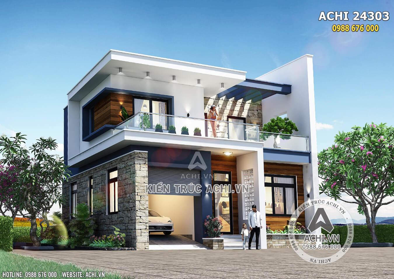 Một góc view đẹp mẫu nhà 2 tầng đơn giản hiện đại 600 triệu đồng - Mã số: ACHI 24303