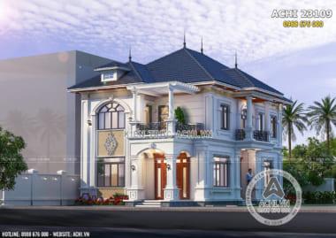Mẫu nhà 2 tầng mặt tiền 8m đẹp 4 phòng ngủ – Mã số: ACHI 23109