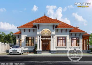 Mẫu nhà biệt thự mái Thái cấp 4 đẹp 1 tầng – Mã số: ACHI 15308