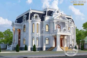 Mẫu thiết kế nhà vuông 2 tầng tân cổ điển đẹp – ACHI 20018