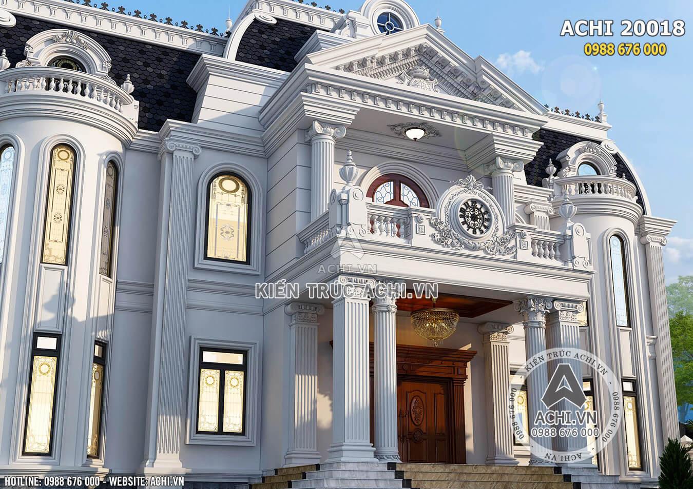 Ngoại thất tân cổ điển sang trọng và tinh tế cho ngôi biệt thự 2 tầng