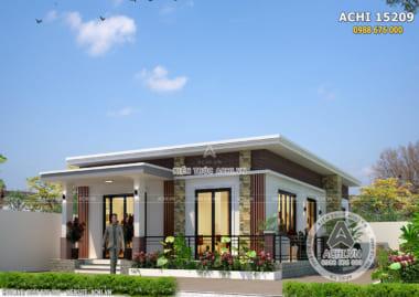 Mẫu nhà cấp 4 đơn giản 1 tầng đẹp 500 triệu tại Thanh Hóa – ACHI 15209