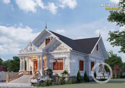 Một góc view đẹp không gian mẫu nhà cấp 4 đẹp kiến trúc tân cổ điển tại Bắc Ninh