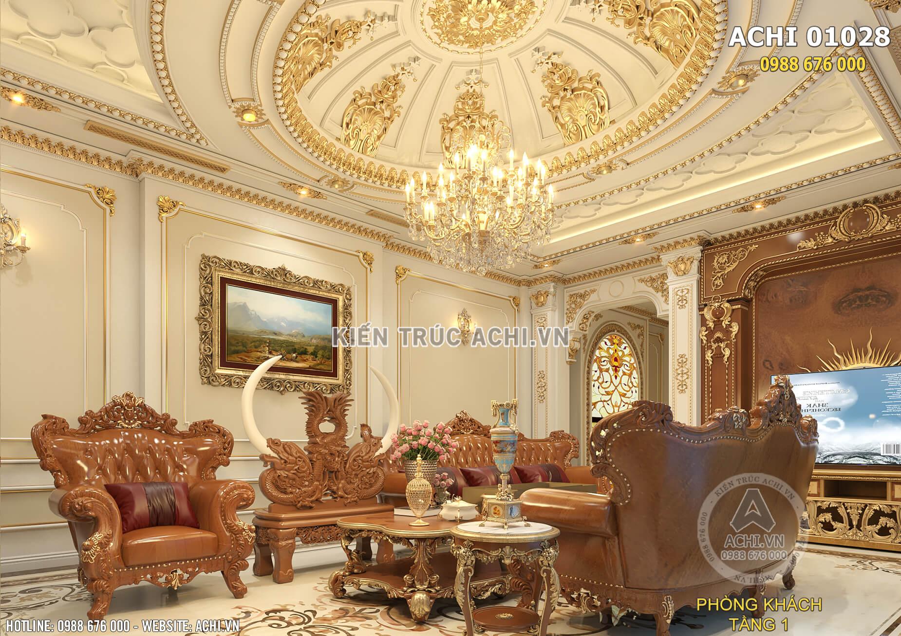Mẫu thiết kế nội thất tân cổ điển đẹp xa hoa