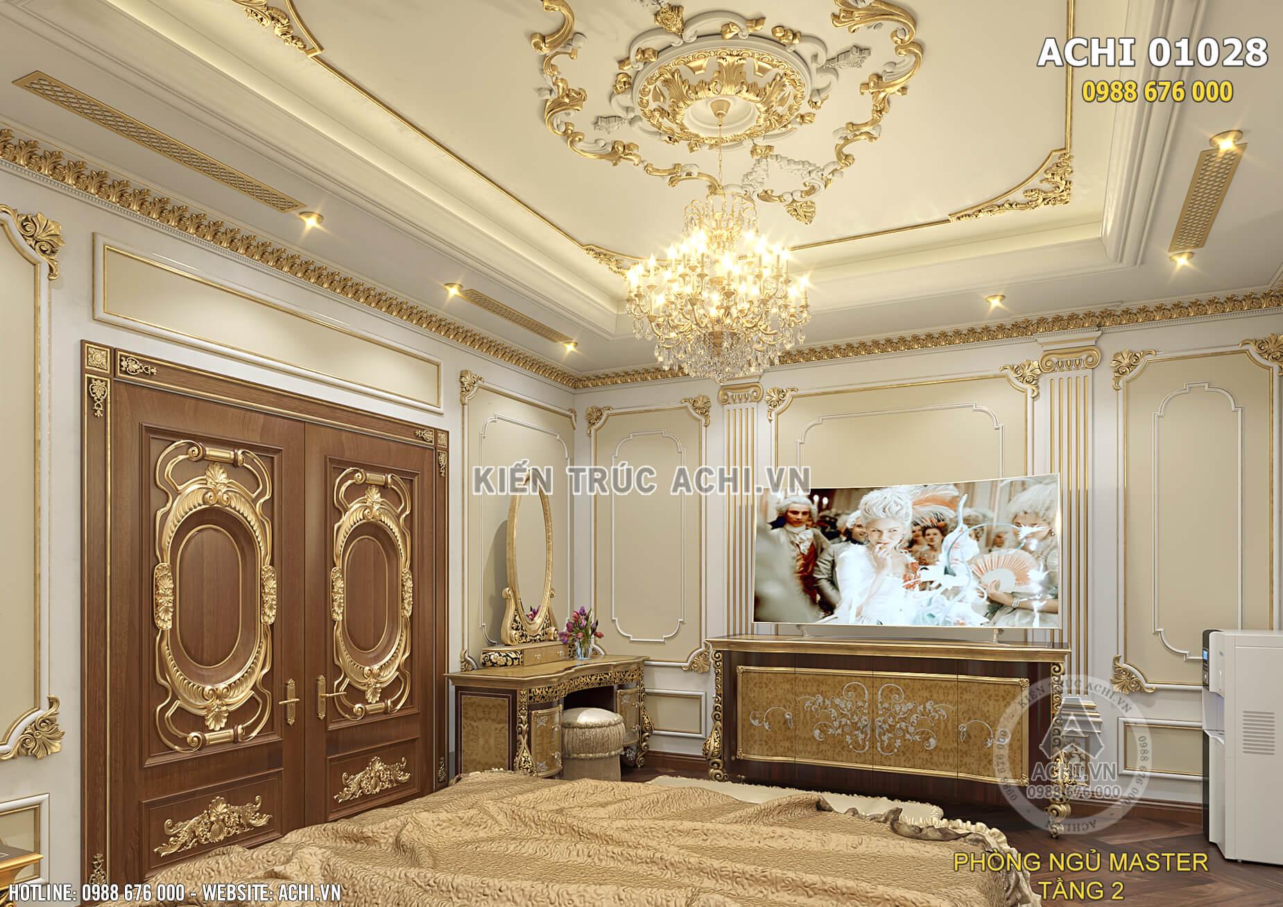 Không gian nội thất phòng ngủ đẹp sang trọng và ấm cúng