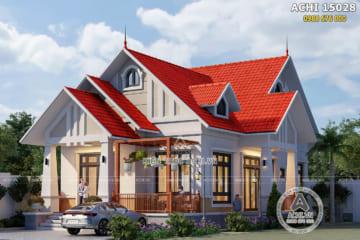 Mẫu thiết kế nhà cấp 4 đẹp nông thôn 3 phòng ngủ 130m2 – ACHI 15028