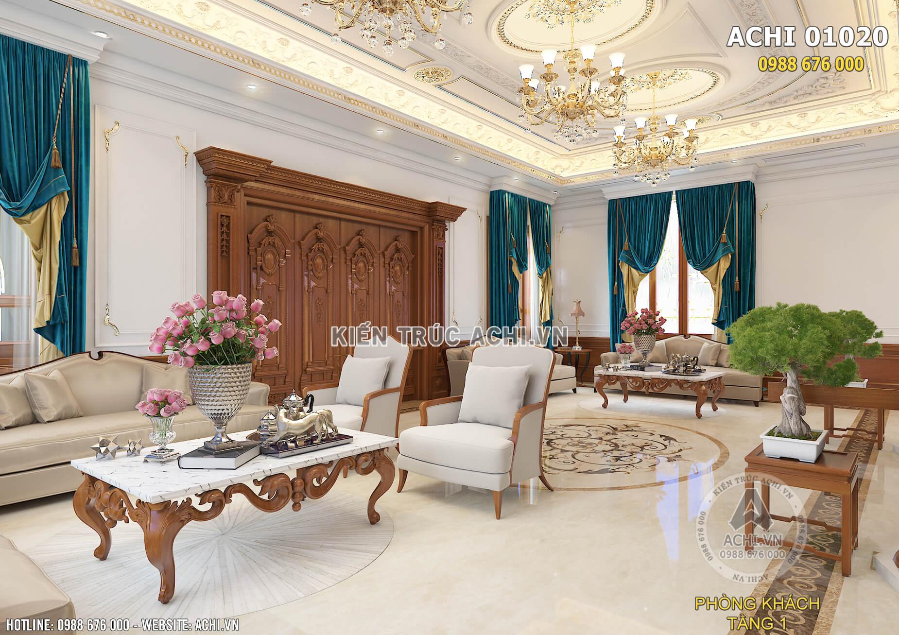Mẫu thiết kế nội thất đẹp cho phòng khách ấn tượng